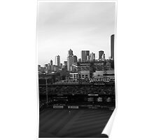Safeco Field Black and White Poster