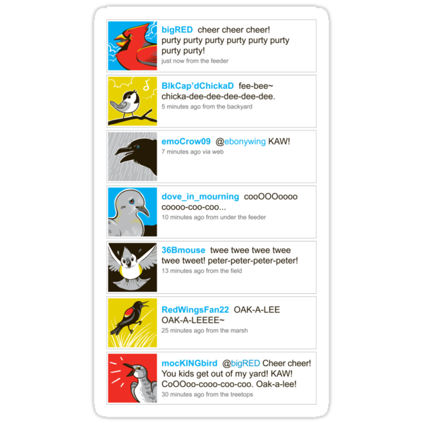 Birds' tweets by Kari Fry