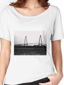 Cooper River Bridge Black & White Women's Relaxed Fit T-Shirt