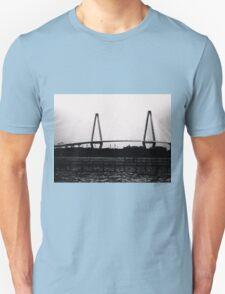 Cooper River Bridge Black & White Unisex T-Shirt