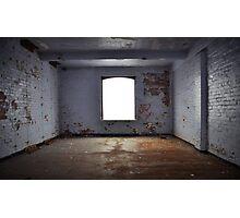 Derelict window landscape Photographic Print