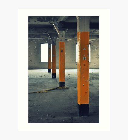 Yellow pillars Art Print