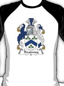 Coat of arms (family crest) for last-name or surname Treadway . Heraldry banner for your name. T-Shirt