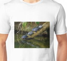 Four Turtles on a Log Unisex T-Shirt