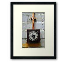 Rusty timer dial Framed Print