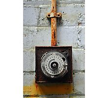 Rusty timer dial Photographic Print