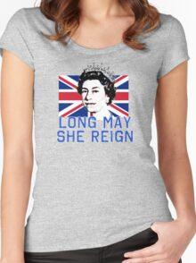Queen Elizabeth II Long May She Reign Women's Fitted Scoop T-Shirt