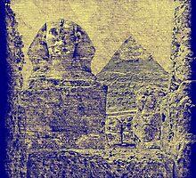 Great Sphinx and Pyramid of Khafre by Nigel Fletcher-Jones