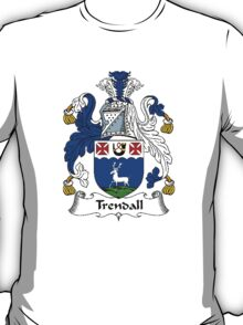 Coat of arms (family crest) for last-name or surname Trendall . Heraldry banner for your name. T-Shirt
