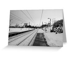 No Trains Again Greeting Card