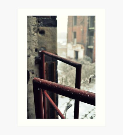 Frosted railing Art Print