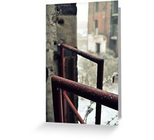 Frosted railing Greeting Card