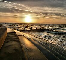 Golden Sunset - Cleveleys . by Lilian Marshall