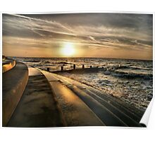Golden Sunset - Cleveleys . Poster