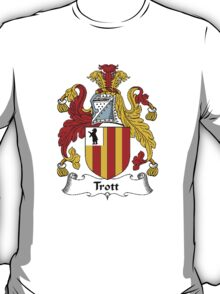 Coat of arms (family crest) for last-name or surname Trott . Heraldry banner for your name. T-Shirt