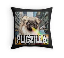 PUGZILLA Throw Pillow