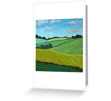 Summer Fields - landscape oil painting Greeting Card