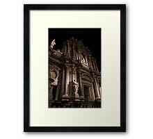 Luci serali sul Duomo Framed Print