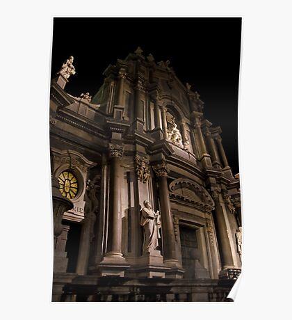 Luci serali sul Duomo Poster