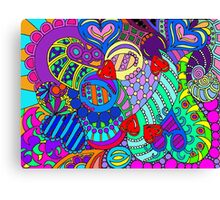 rainbow mural  Canvas Print