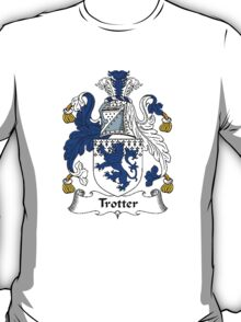 Coat of arms (family crest) for last-name or surname Trotter . Heraldry banner for your name. T-Shirt