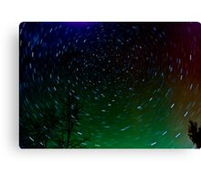Star  Trails with the Northern Lights Canvas Print