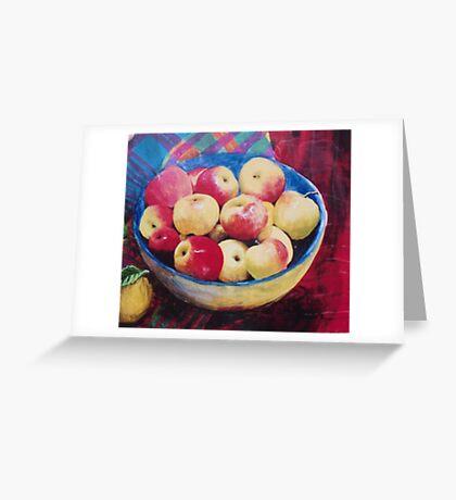 Apples. Greeting Card