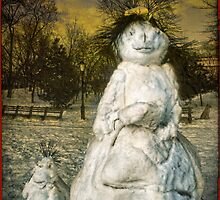 The Grunge Snowperson and Small Goth Friend by Chris Lord