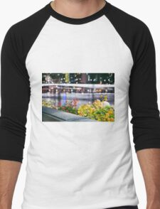 View of Brisbane City at night Men's Baseball ¾ T-Shirt