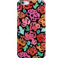 Peony & Roses on Black iPhone Case/Skin