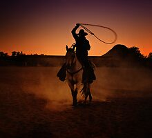 Lasso at Sunset by socalgirl