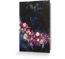 Flowers in the Night Sky Greeting Card