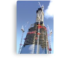 Crane Driver Anyone ?? - The Shard London Bridge Canvas Print