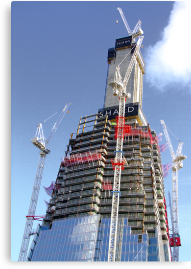 Crane Driver Anyone ?? - The Shard London Bridge by Colin  Williams Photography