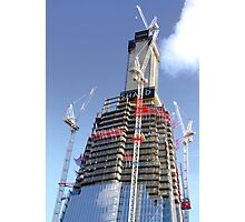 Crane Driver Anyone ?? - The Shard London Bridge Photographic Print