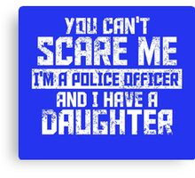 Police Officer And Daughter Canvas Print
