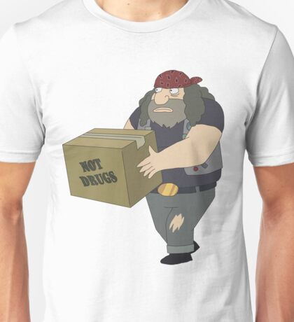 Rick and Morty: Criminal Not Carrying Box of Drugs Unisex T-Shirt