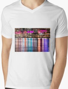 View of Brisbane City at night Mens V-Neck T-Shirt
