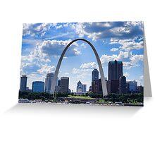 St Louis City Skyline. Greeting Card