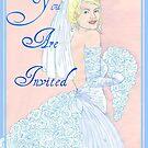 Wedding Cake Invitation by redqueenself