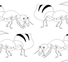 Cute Black and White Ant Pattern Sticker