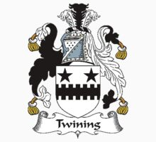 Coat of arms (family crest) for last-name or surname Twining . Heraldry banner for your name. T-Shirt