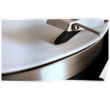 Turntable with white vinyl Poster