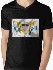 United States Virgin Islands Flag Mens V-Neck T-Shirt