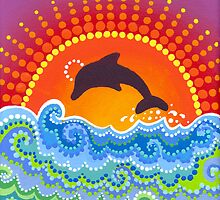 Dolphin joyful playing by Elspeth McLean