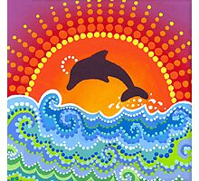 Dolphin joyful playing Photographic Print