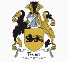 Coat of arms (family crest) for last-name or surname Twist . Heraldry banner for your name. T-Shirt