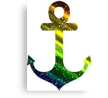 Colorful anchor Canvas Print