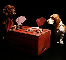 Dogs Playing Poker by monicaneira