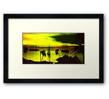 Anchorage on a Heartbreak Cove Sunset Framed Print